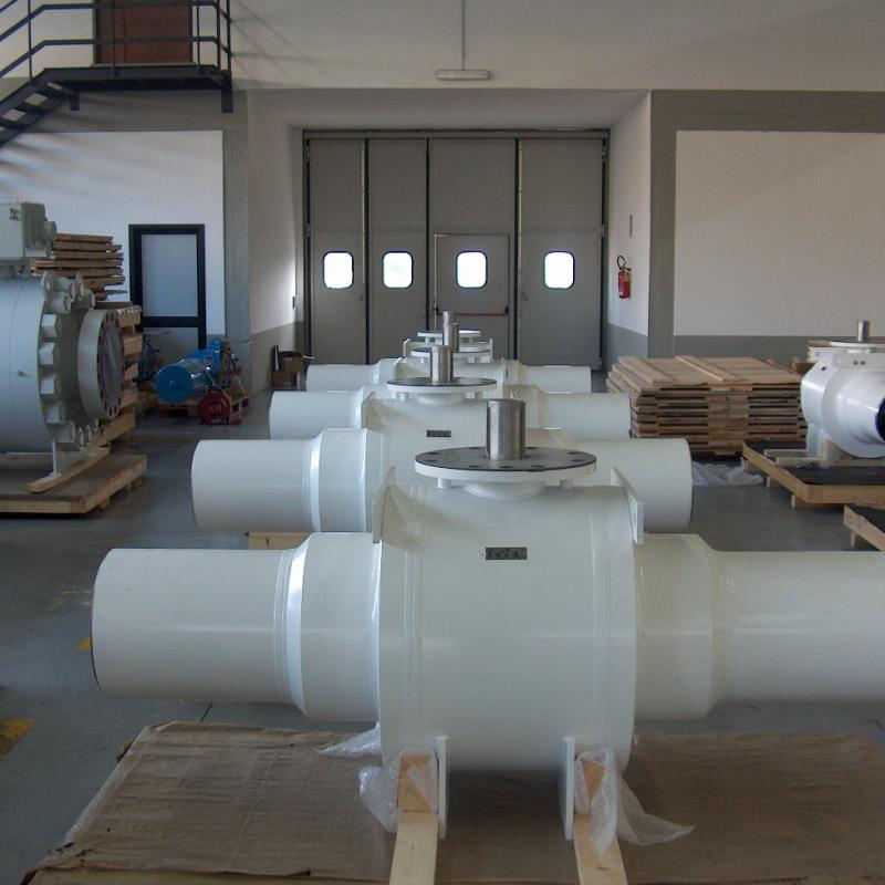 subsea fully welded trunnion ball