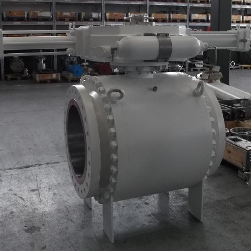 subsea ball valve with SY actuator