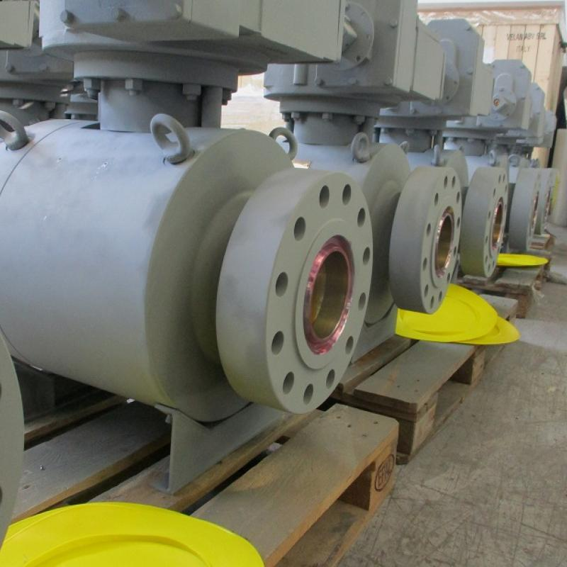 API 6A Side entry trunnion ball valve